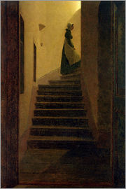 Caspar David Friedrich - Caroline on the stairs