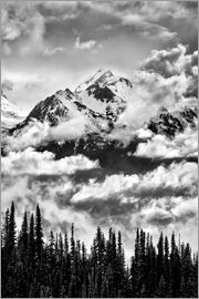 Ann Collins - Carrie Glacier through the clouds