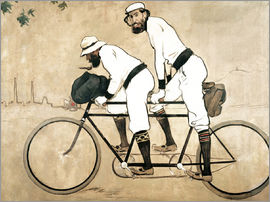 Ramon Casas i Carbo - Casas and Romeu on a tandem