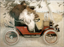 Ramon Casas i Carbo - Casas and Romeu in an automobile