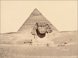 Antonio Beato - Chephren pyramid and sphinx
