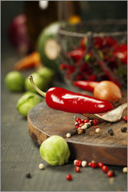 Chilli pepper and cooking ingredients