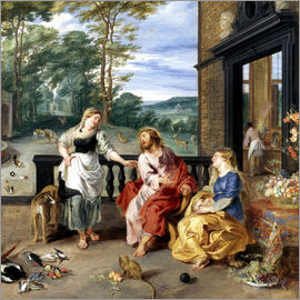 Jan Brueghel d.J. - Christ in the House of Martha and Mary
