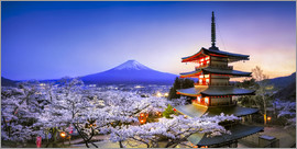 Jan Christopher Becke - Chureito Pagoda at Mount Fuji in Fujiyoshida, Japan