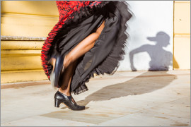 Matteo Colombo - Close up of flamenco dancer performing in Seville, Spain