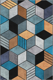 Zoltan Ratko - Colorful Concrete Cubes 2 Blue Grey Brown