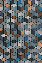 Zoltan Ratko - Colorful Concrete Cubes Blue Grey Brown