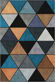 Zoltan Ratko - Colorful Concrete Triangles 2 Blue Grey Brown