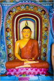Matthew Williams-Ellis - Colourful Buddha statue at Isurumuniya Vihara, Anuradhapura, UNESCO World Heritage Site, Sri Lanka,A