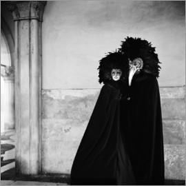 Millennium Images - Couple wearing costumes and masks at the annual Carnivale. Venice, Italy