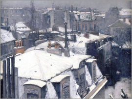 Gustave Caillebotte - Roofs in the snow
