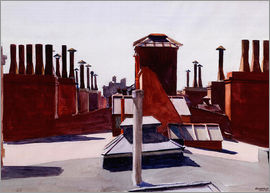 Edward Hopper - Roofs, Washington Square