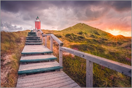 Dirk Wiemer - Dawn at lighthouse 'Red Cliff' (Kampen / Sylt)
