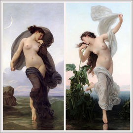 William Adolphe Bouguereau - Twilight & Aurora