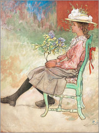 Carl Larsson - Dagmar Grill in the garden