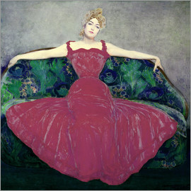 Maximilian Kurzweil - Lady in fuchsia dress
