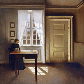 Vilhelm Hammershoi - Interior with a lady