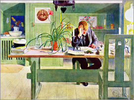 Carl Larsson - The Study Room