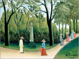 Henri Rousseau - The Monument to Chopin in the Luxembourg Gardens