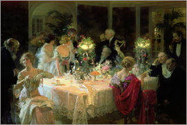 Jules Alexandre Gruen - The End of Dinner