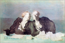 Honoré Daumier - The Decisive Argument