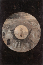 Hieronymus Bosch - The divine sun face with the passion of Christ