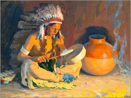 Eanger Irving Couse - The chief song