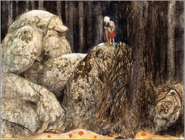 John Bauer - The Child and the Stone Troll