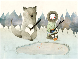 Judith Loske - The Little Inuit Girl And The Wolf