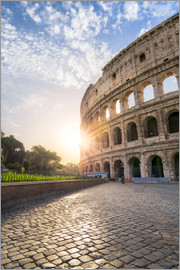 Jan Christopher Becke - The Colosseum in Rome at sunrise