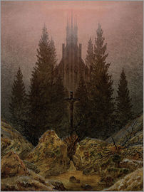 Caspar David Friedrich - Crucifix in Forest