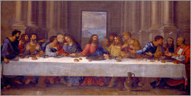 Nicolas Poussin - The Last Supper. Copy after Leonardo da Vinci.