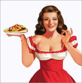 Tanja Doronina - the girl with a pizza