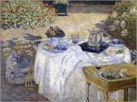Claude Monet - Lunch: Monet's garden at Argenteuil