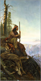 William Hahn - The signal fire (Indian after the hunting) 1880