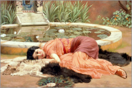 John William Godward - Sweet Nothings (Dolce Far Niente)