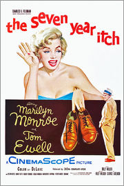 THE SEVEN YEAR ITCH, Marilyn Monroe, Tom Ewell