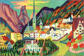 Ernst Ludwig Kirchner - Davos with Church