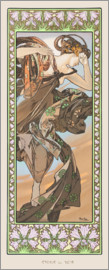 Alfons Mucha - The evening star - decorative
