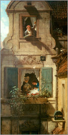 Carl Spitzweg - The intercepted love letter