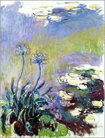 Claude Monet - The Agapanthus