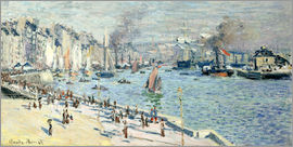 Claude Monet - view of the old outer harbor at le havre