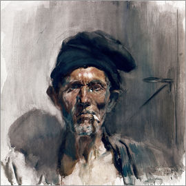 Joaquin Sorolla y Bastida - The old man with the cigarette