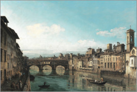 Bernardo Bellotto (Canaletto) - The Arno to the Ponte Vecchio