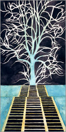 Léon Spilliaert - The tree at the end of the stairs