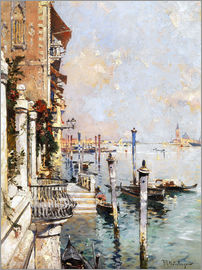 Franz Richard Unterberger - The Grand Canal, Venice