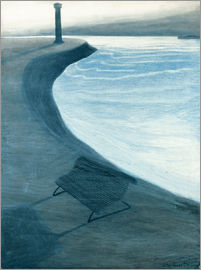 Léon Spilliaert - The dike, Ostend