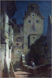 Carl Spitzweg - The night watch fallen asleep