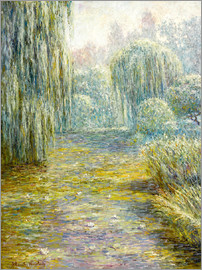Blanche Hoschede-Monet - The garden in Giverny