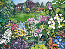 Hilary Jones - The Garden with Birds and Butterflies